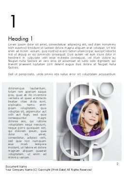 White Circles Word Template, First Inner Page, 12990, People — PoweredTemplate.com