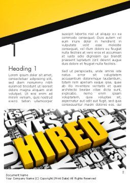 Employed Issues Word Template, First Inner Page, 12991, Careers/Industry — PoweredTemplate.com