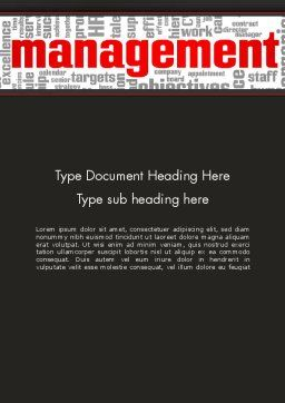 Word Management Word Template, Cover Page, 12992, Business — PoweredTemplate.com