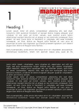 Word Management Word Template, First Inner Page, 12992, Business — PoweredTemplate.com