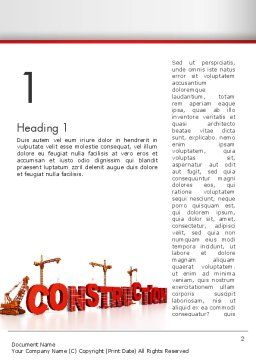 Building Construction Word Template, First Inner Page, 13007, Construction — PoweredTemplate.com