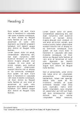 Building Construction Word Template, Second Inner Page, 13007, Construction — PoweredTemplate.com