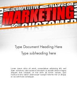 Marketing Word Cloud Word Template, Cover Page, 13009, Careers/Industry — PoweredTemplate.com