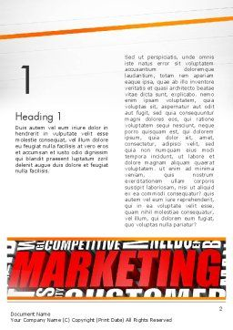 Marketing Word Cloud Word Template First Inner Page
