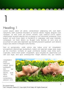 Young Couple Dreaming Word Template, First Inner Page, 13011, People — PoweredTemplate.com