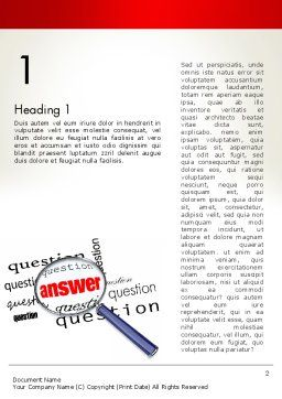 Answer to Questions Word Template, First Inner Page, 13015, Business Concepts — PoweredTemplate.com