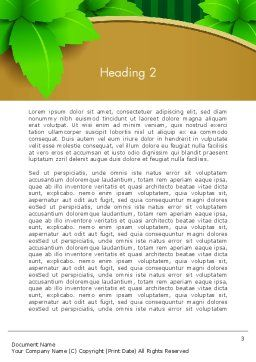 Green Leaves on Frame Word Template Second Inner Page