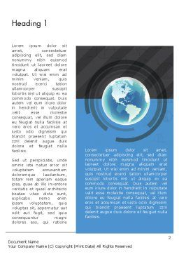 Globe Theme with Charts Word Template, First Inner Page, 13022, Global — PoweredTemplate.com