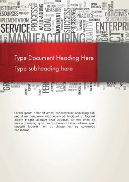 Manufacturing Word Cloud Word Template, Cover Page, 13023, Business Concepts — PoweredTemplate.com