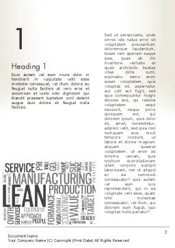 Manufacturing Word Cloud Word Template, First Inner Page, 13023, Business Concepts — PoweredTemplate.com