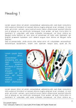 Schools Stationery Word Template First Inner Page