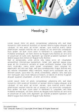 Schools Stationery Word Template Second Inner Page