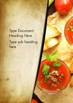 Vegetable Soup Word Template, Cover Page, 13025, Food & Beverage — PoweredTemplate.com