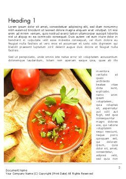 Vegetable Soup Word Template, First Inner Page, 13025, Food & Beverage — PoweredTemplate.com
