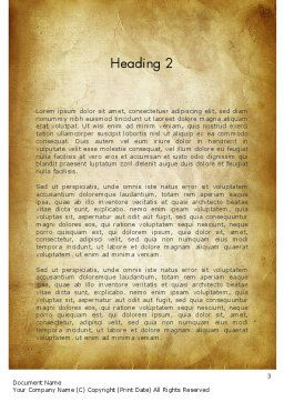 Vegetable Soup Word Template Second Inner Page