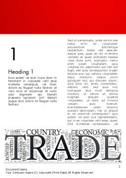 Trade Word Cloud Word Teemplate, First Inner Page, 13026, Careers/Industry — PoweredTemplate.com