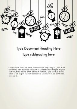 Floating Hours Word Template, Cover Page, 13028, Consulting — PoweredTemplate.com
