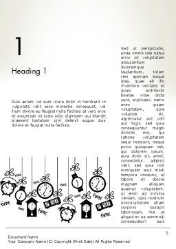 Floating Hours Word Template, First Inner Page, 13028, Consulting — PoweredTemplate.com