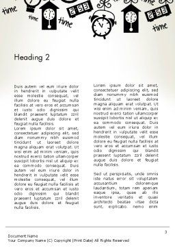Floating Hours Word Template, Second Inner Page, 13028, Consulting — PoweredTemplate.com