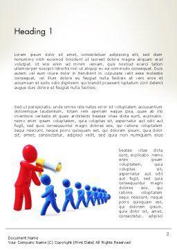 Propaganda Word Template, First Inner Page, 13029, Careers/Industry — PoweredTemplate.com