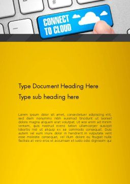 Cloud Backup Word Template, Cover Page, 13033, Technology, Science & Computers — PoweredTemplate.com