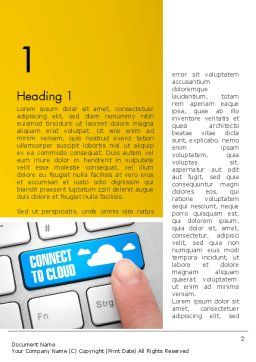 Cloud Backup Word Template First Inner Page