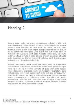 Cloud Backup Word Template Second Inner Page