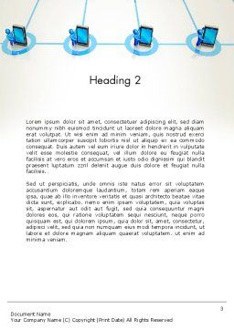 Content Sharing Concept Word Template Second Inner Page