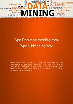 Data Mining Word Cloud Word Template, Cover Page, 13038, Business — PoweredTemplate.com