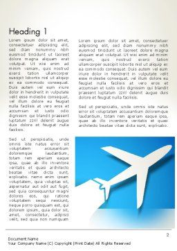Plane Illustration Word Template First Inner Page
