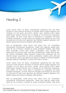 Plane Illustration Word Template Second Inner Page