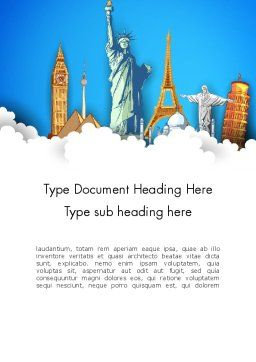Landmarks Word Template, Cover Page, 13044, Careers/Industry — PoweredTemplate.com