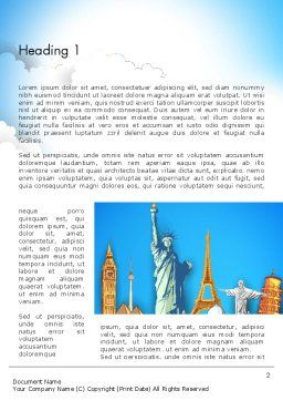 Landmarks Word Template, First Inner Page, 13044, Careers/Industry — PoweredTemplate.com