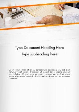 Clinical Consulting Services Word Template, Cover Page, 13049, Medical — PoweredTemplate.com