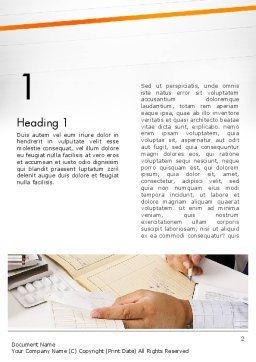 Clinical Consulting Services Word Template, First Inner Page, 13049, Medical — PoweredTemplate.com