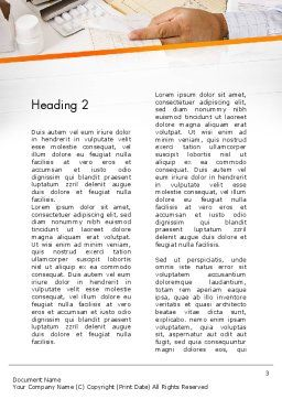 Clinical Consulting Services Word Template, Second Inner Page, 13049, Medical — PoweredTemplate.com