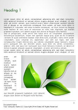 Ecological Theme Word Template First Inner Page