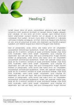 Ecological Theme Word Template Second Inner Page