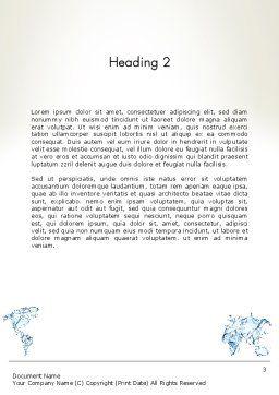 Blue Water Splash World Map Word Template, Second Inner Page, 13051, Global — PoweredTemplate.com