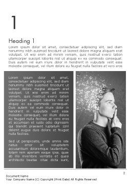Swarm of Thoughts Word Template, First Inner Page, 13053, Business Concepts — PoweredTemplate.com