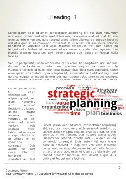 Strategic Planning and Management Word Cloud Word Template First Inner Page