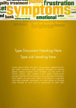 Psychology Symptoms Word Cloud Word Template, Cover Page, 13056, Medical — PoweredTemplate.com