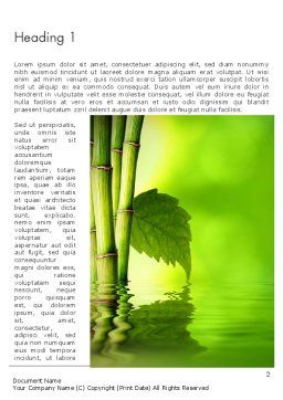 Abstract Spa And Healthy Lifestyle Word Template, First Inner Page, 13057, Careers/Industry — PoweredTemplate.com