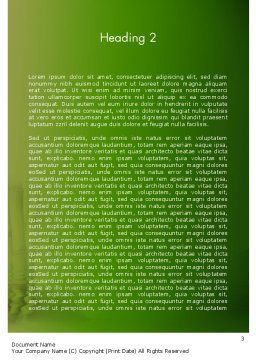 Abstract Spa And Healthy Lifestyle Word Template, Second Inner Page, 13057, Careers/Industry — PoweredTemplate.com