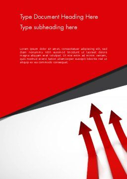 Red Arrows Moving Up Word Template, Cover Page, 13064, Business Concepts — PoweredTemplate.com
