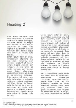 Three White Lamps in Garland Word Template, Second Inner Page, 13071, Careers/Industry — PoweredTemplate.com