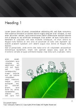 Green Environment Concept Word Template First Inner Page