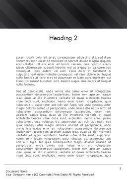Green Environment Concept Word Template Second Inner Page