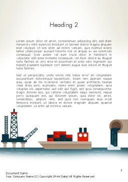 Oil Transportation Word Template, Second Inner Page, 13075, Cars/Transportation — PoweredTemplate.com