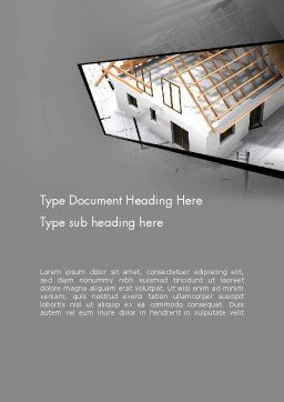 Renovation Plan Word Template, Cover Page, 13081, Construction — PoweredTemplate.com